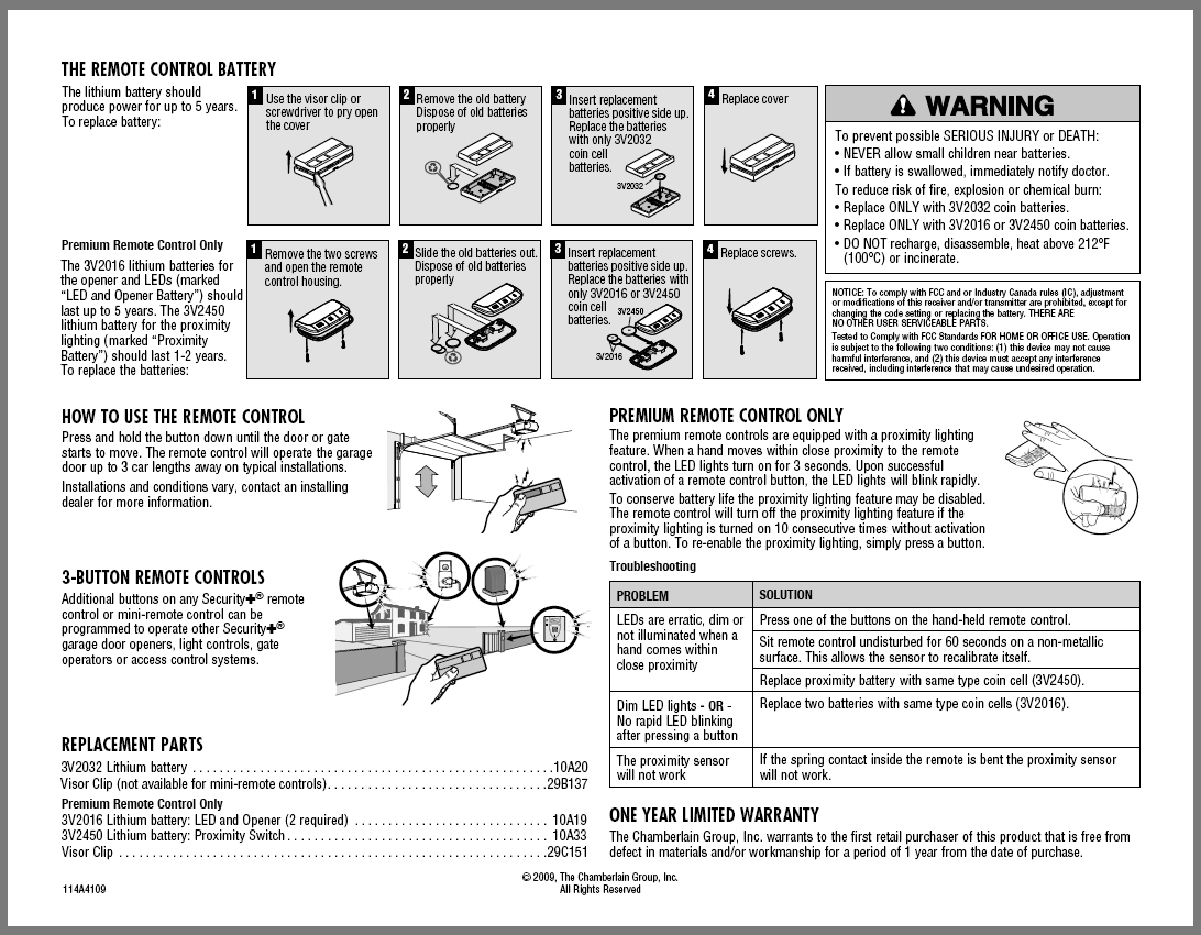 Liftmaster Universal Garage Door Opener Manual Dandk